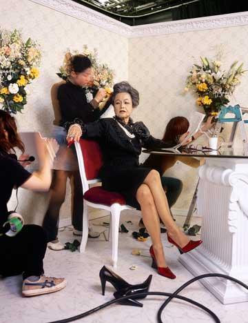 """מיווה ינאגי - היאוני. מתוך הסדרה """"הסבתות שלי"""", 2007"""